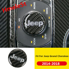 For Jeep Grand Cherokee 2014-2018 Real Carbon Fiber Inner Multimedia Knob Cover