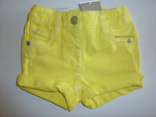 NEXT Gorgeous Little Girls Yellow Denim Shorts NWT