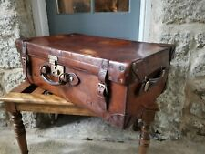 A Vintage Leather Tan Case Trunk by Harrods