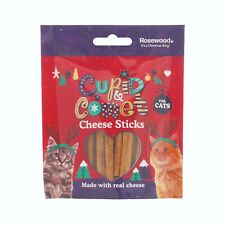 Rosewood Christmas Cheese Stick Treats For Cats 40g Made With Real Cheese