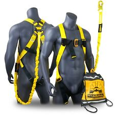 Kwiksafety Scorpion Ansi Fall Protection Safety Harness With Attached 6ft Lanyard