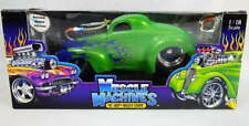 Muscle Machines 1:18 Scale 41 Jeep Willys Coupe Die Cast Metal Custom Car w/Box