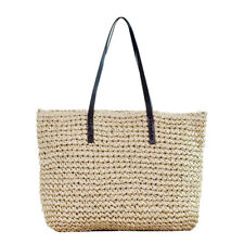89f2506fe9a Retro Wicker Women Handbag Bags Totes Beach Straw Woven Summer Rattan  Basket Bag