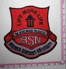 BSN Patch LIFE MORE LIFE THE SPIRIT MAKES THE MASTER WESTERN KENTUCKY UNIVERSITY