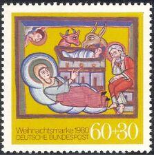 Germania 1980 Natale/Saluti/Natività/ARTE/PITTURA/Bovini/ASINO 1 V (g10103)