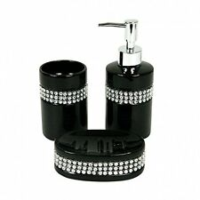 diamante bathroom accessories for sale ebay rh ebay co uk