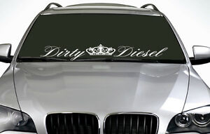 90cm Dirty Diesel ANY COLOUR Windscreen Sticker JDM Euro Drift Car Vinyl Decal