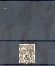 TAHITI, FORERUNNER YT54 1881 25c BLACK/ROSE, PAPEETE  15MAI88 CDS, $100