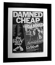 THE DAMNED+Machine Gun Etiquette+POSTER+AD+FRAMED+ORIGINAL 1979+FAST GLOBAL SHIP