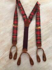 Vintage Lew Loritter Westwood Village Tartan Plaid Suspenders True Vintage