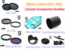 FC8 FILTER - LENS HOOD - CAP - ADAPTER TUBE - PEN for Nikon CoolPix P510 P520