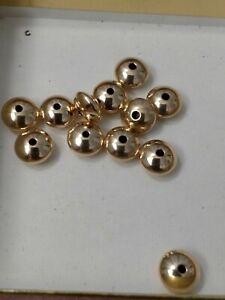 12 Heavy Saucer Shape 14kt Gold Filled Beads Seamless Big 9 MM Beads
