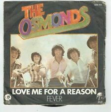 """The OSMONDS Disque Vinyle 45T 7"""" LOVE ME FOR A REASON - FEVER -MGM 2006 458 RARE"""