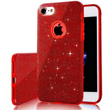 For iPhone 7 4.7 Red Glitter Case Slim Sparkly Bling Crystal Shockproof Cover