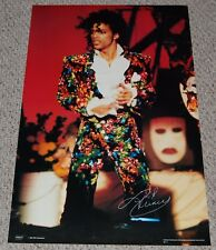 PRINCE In Concert Paisley Flower Suit Poster 1984 PRN Productions