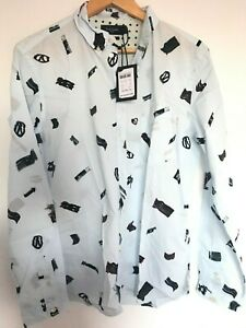 Paul Smith Gents Casual Tailored Fit Shirt in All Over Print Sizes S-L -RRP £150