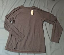 Rhone Reign Long Sleeve Dark/Gray Heather Black Xl Extra Large
