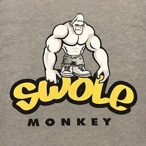 JAY CUTLER SWOLE MONKEY BODYBUILDING T-SHIRT MENS Medium Gray (Original Design)