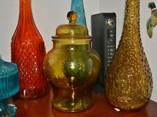 1970's AMBER GLASS JAR GENIE BOTTLE ERA
