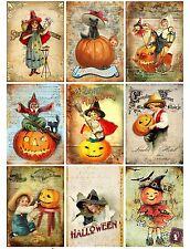9 Halloween Spooktacular Atc Cards Hang Tags Scrapbooking Paper Crafts (109)
