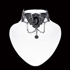 RESTYLE BAT CHOKER SILVER. NECRONOMICON. H.P.LOVECRAFT. VICTORIAN GOTHIC.