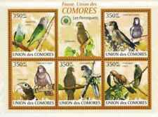 Timbres Oiseaux Perroquets Comores 1686/90 ** de 2009 lot 28622 - cote : 12,50 €