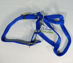 EQUIPRIDE ARGENTINIAN LEATHER HEADCOLLAR COW LEATHER LEAD ROPE CLEARANCE BLUE