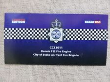 Nine Double Nine CC13011 Dennis F12 City Of Stoke on Trent Certificate ONLY