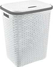 More details for laundry basket ice white