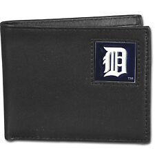 Detroit Tigers MLB Bi-Fold Fine Grain Leather Wallet, Gift Boxed