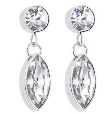 S.Michael Designs Stainless Steel Crystal Drop Dangle Earrings