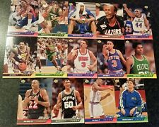 14× 1992-93 Upper Deck Game Faces Basketball Cards. Karl Malone, David Robinson