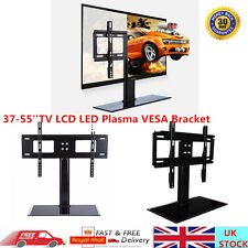 Table Glass Pedestal TV Stand LCD LED Plasma Screen VESA Mount Bracket 37-55""