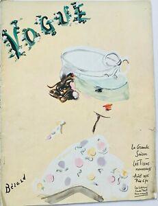 1935 August VOGUE PARIS 30s vintage couture Horst Schiaparelli Daisy Fellows