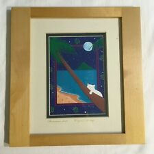 Framed Virginia Bishop Chinaman's Hat Signed Print Matted 5x7 - 1 of 3 Prints