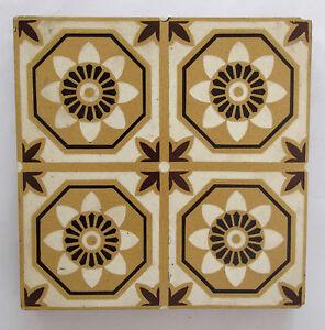 "Antique three-colour Encaustic Floor tiles 6 x 6"" – Stoke on Trent - 1 of 2"