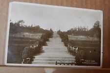 Postcard Barrow In Furness Public Park Real photo posted 1930