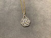 1.0 Carat Diamond Brilliant Cut Solitaire Pendant With Necklace 9k Gold Finish
