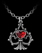 Alchemy COLLANA CUORE - Lucky In Love - gotico Donna Collana regalo