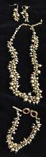 """NEW Premier Designs""""OOH LA LA"""" Gold Beads Necklace/Earrings/Bracelet-NIB-RV $137"""