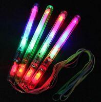 24 Light-Up Strobe Sticks Flashing Patrol Wands LED Glow Blinking Rave Glow Run