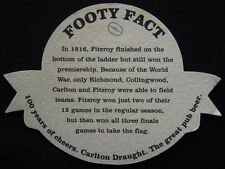 Carlton Draught 100 Years Of Cheers 1897 1996 Footy Fact 1916 Fitzroy Coaster
