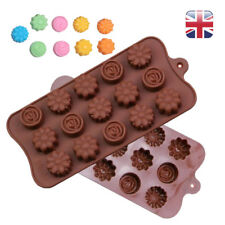 15 Flowers Silicone mould Cake Chocolate Candy Pastry  Ice Cube Tray DIY Mold UK