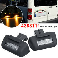 2x Rear Tail License Number Plate Light Lamp For Ford Transit MK5 MK6 MK7 95-13