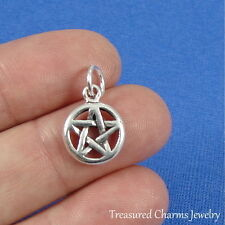 .925 Sterling Silver PENTACLE CHARM Pentagram Wiccan Pagan PENDANT