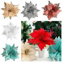 Weihnachten Geschenk Ornament für Glitter Poinsettia.kgm Weihnachtsbaum Blumen