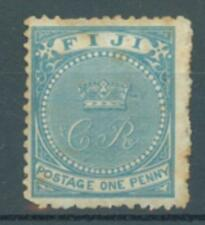 Fiji 1871 1d blue uncancelled on some paper sg.10