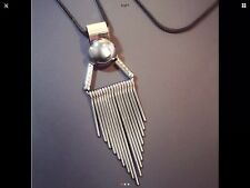 STUNNING LADIES LONG NECKLACE BLACK CHAIN