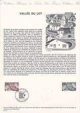 Document Philatélique Timbre 1er Jour : 07/09/ 1974 - Vallée du Lot