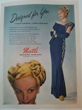 1947 Nestle opalescent hair cream wave womens Milgrim dress vintage ad